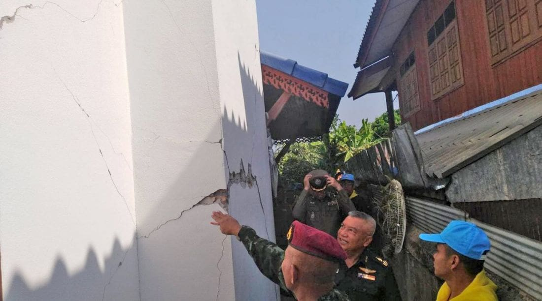 Disaster zone declared in Lampang after 31 mild tremors | News by The Thaiger