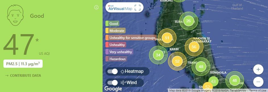 Air quality for Thailand – February 21 | News by The Thaiger