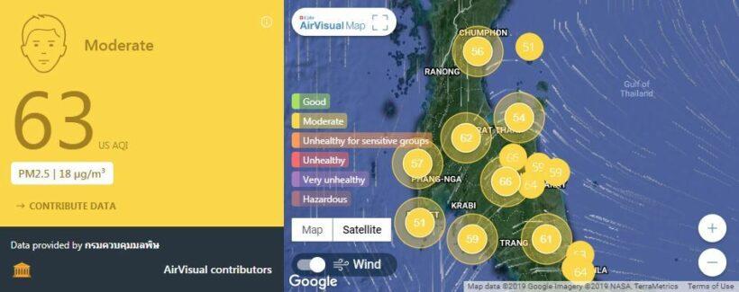 ค่ามลพิษทางอากาศ วันที่ 5 กุมภาพันธ์ | News by The Thaiger
