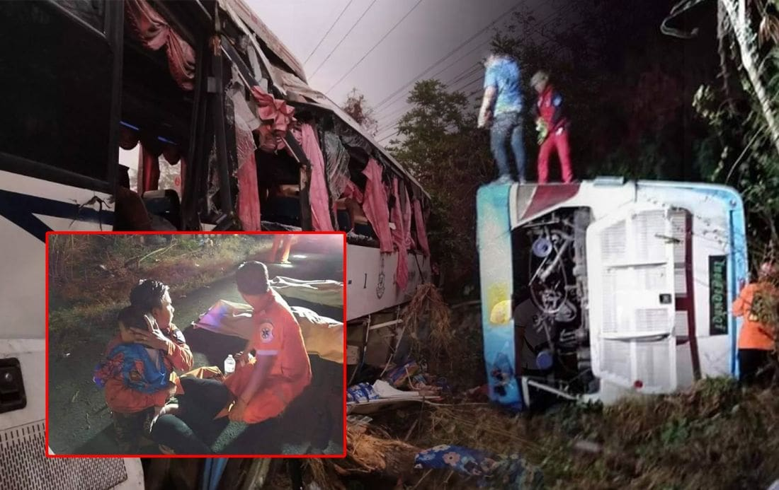 Two die, many injured in three separate bus incidents | The Thaiger