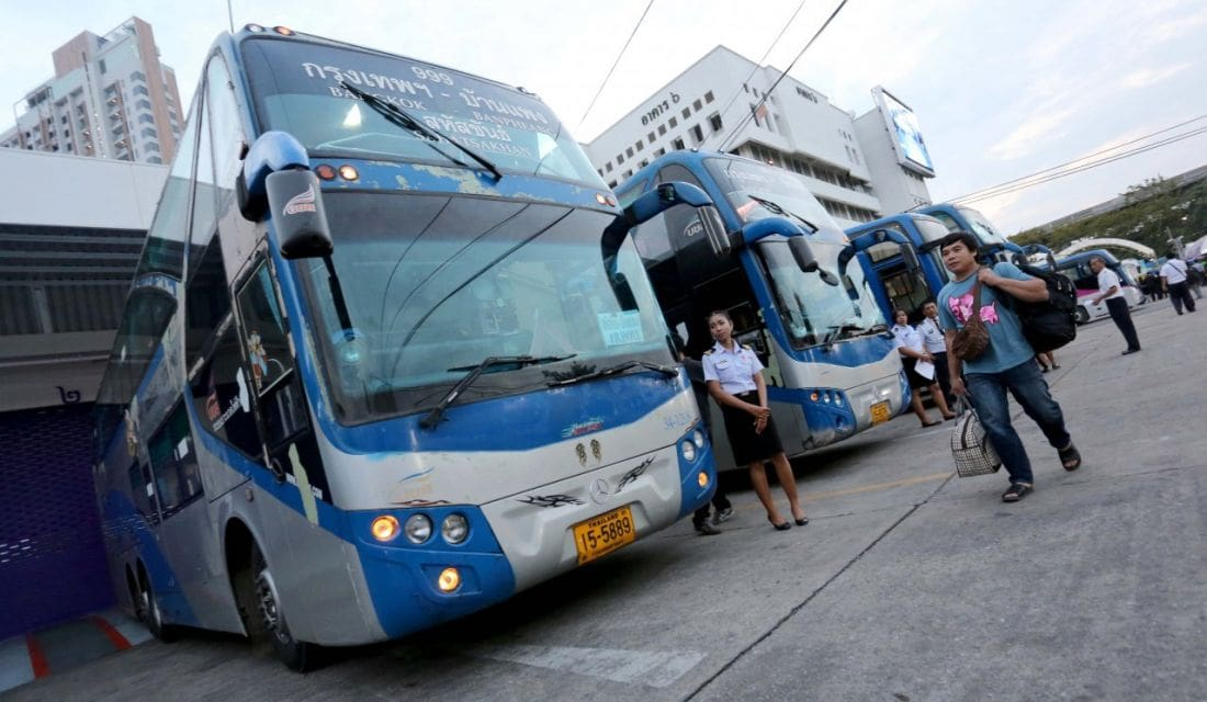 Pre-Songkran inspections of public buses and their drivers | News by The Thaiger