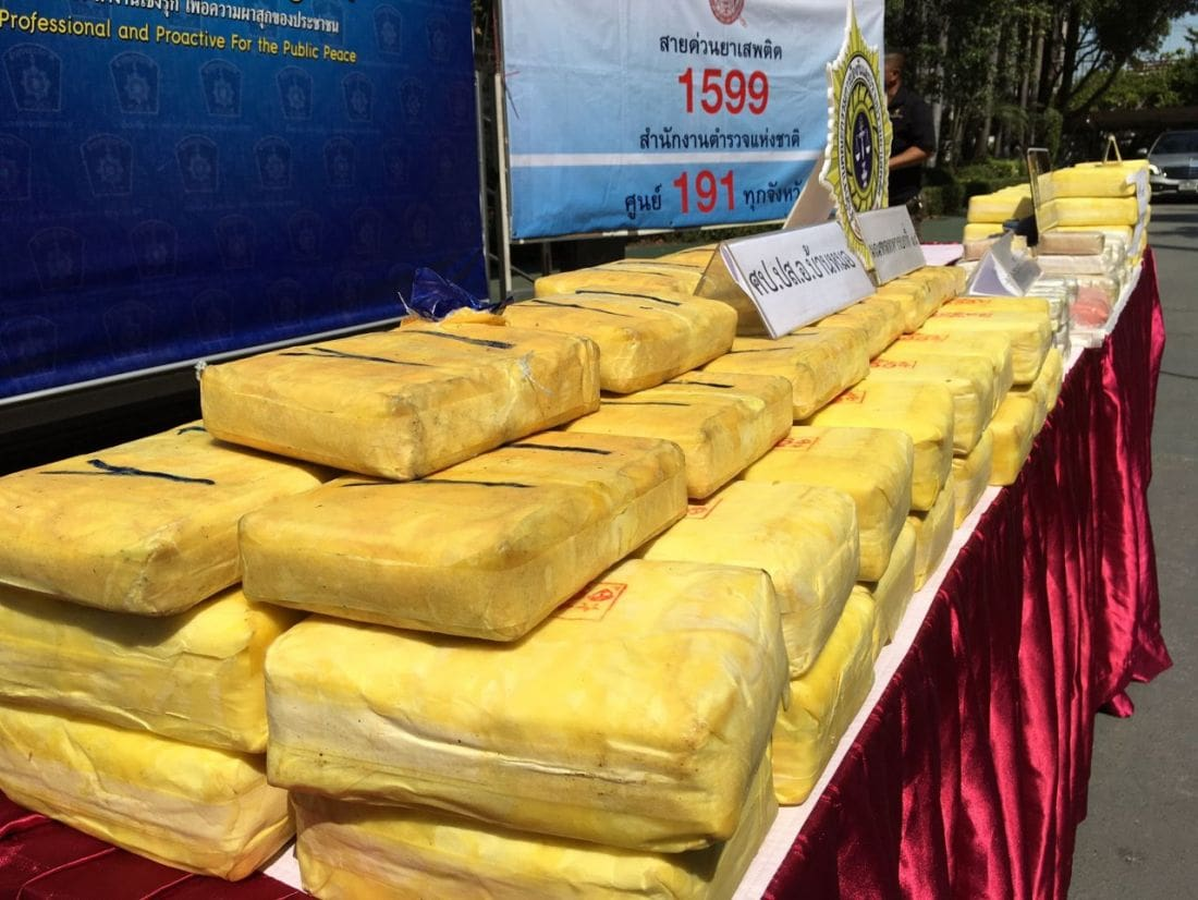 Three men arrested and 1.2 million methamphetamine pills seized | News by Thaiger