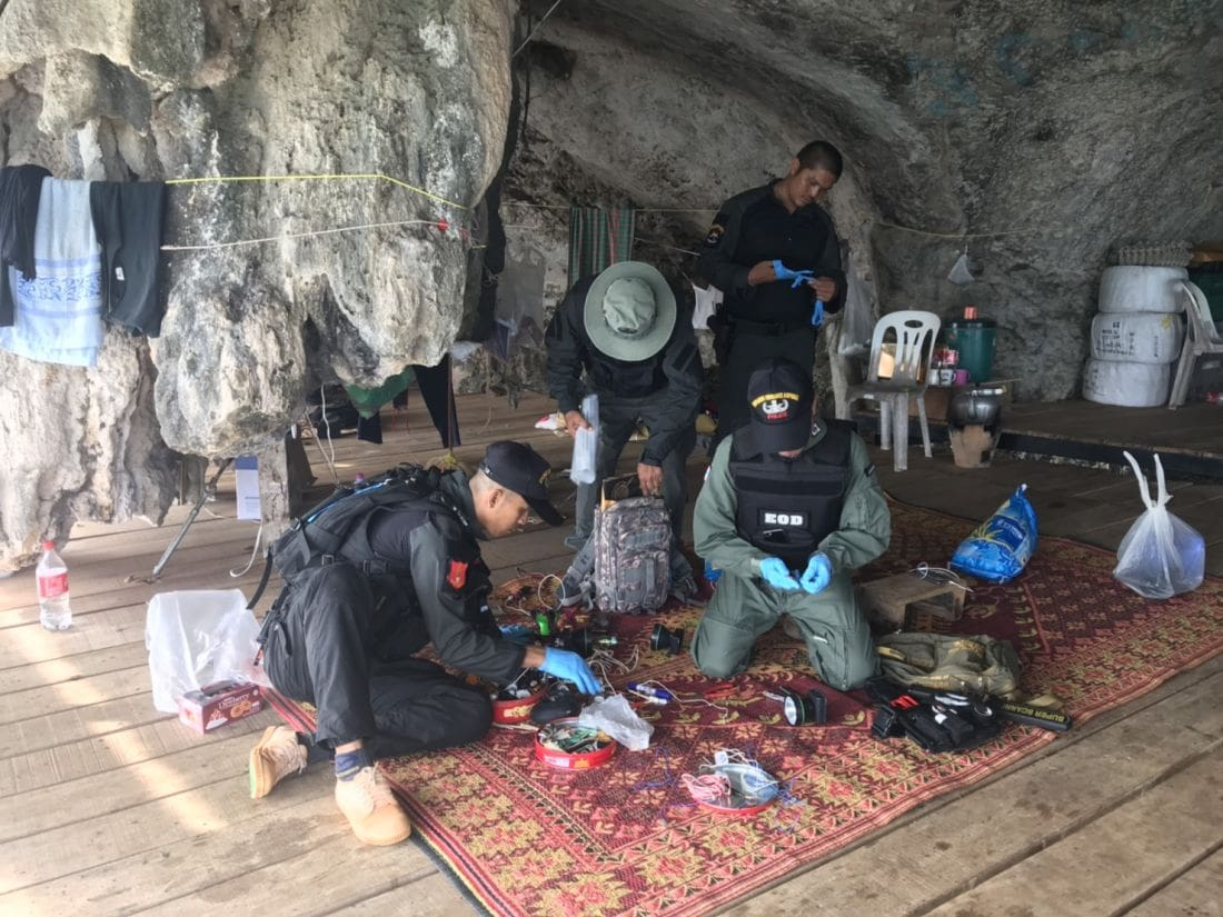 Bomb making equipment discovered in Krabi cave | News by The Thaiger