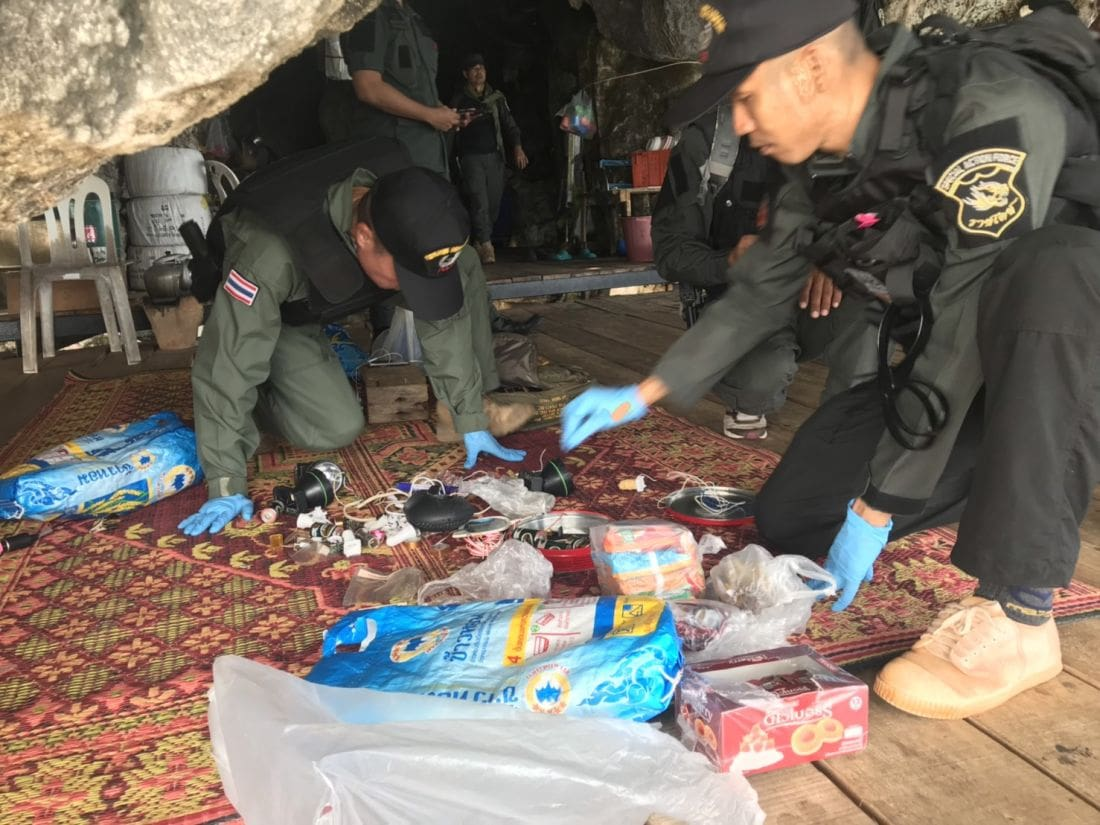 Bomb making equipment discovered in Krabi cave | The Thaiger