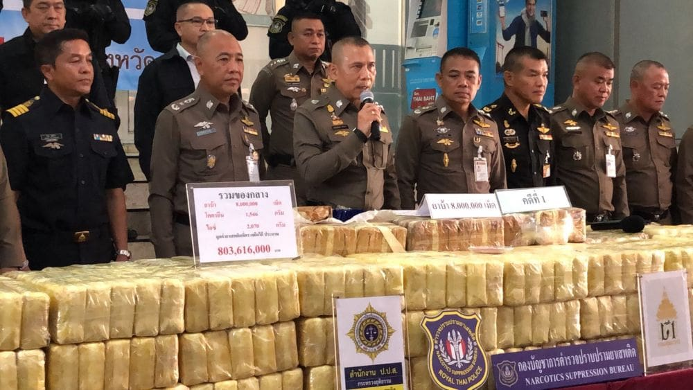 800 million baht of drugs seized in three recent busts | News by The Thaiger