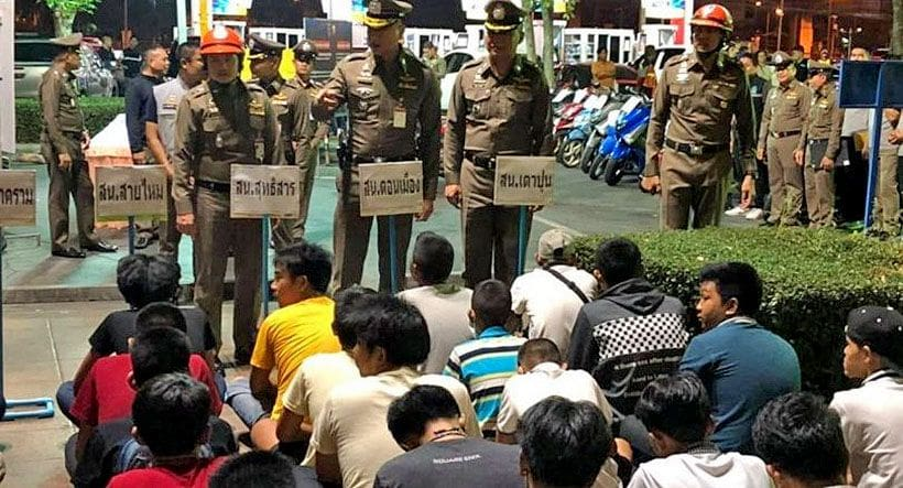 88 arrested and being sent to 'attitude adjustment' on March 11 | The Thaiger