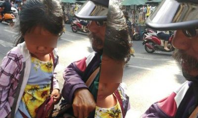 Motorcycle taxi driver takes daughter along for the ride after wife kicked them out | The Thaiger
