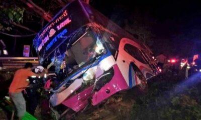 14 injured in bus crash in Prachuap Khiri Khan | The Thaiger