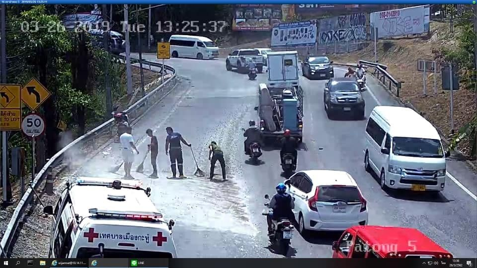 Cement truck company fined after dropping cement on Patong Hill – VIDEO | News by The Thaiger