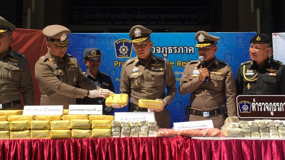 Three men arrested and 1.2 million methamphetamine pills seized | News by The Thaiger