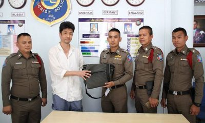 Japanese tourist re-united with his bag and valuables | The Thaiger