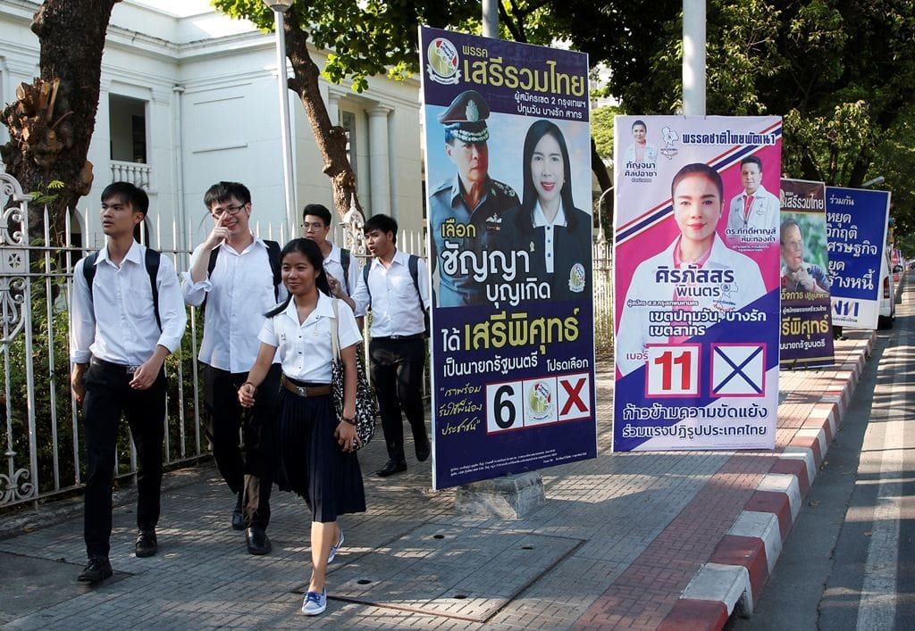 Thai dictator tightens grip as military-backed party leads polls