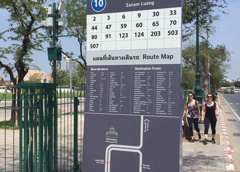 Bangkok rolls out new 'user-friendly' bus stop signs | The Thaiger