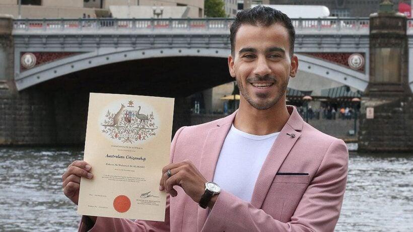 He's an Aussie now. Hakeem al-Araibi becomes Australian citizen.   The Thaiger