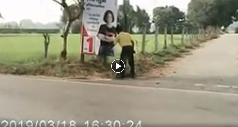 Man caught masturbating in front of election banner in Lampang | The Thaiger