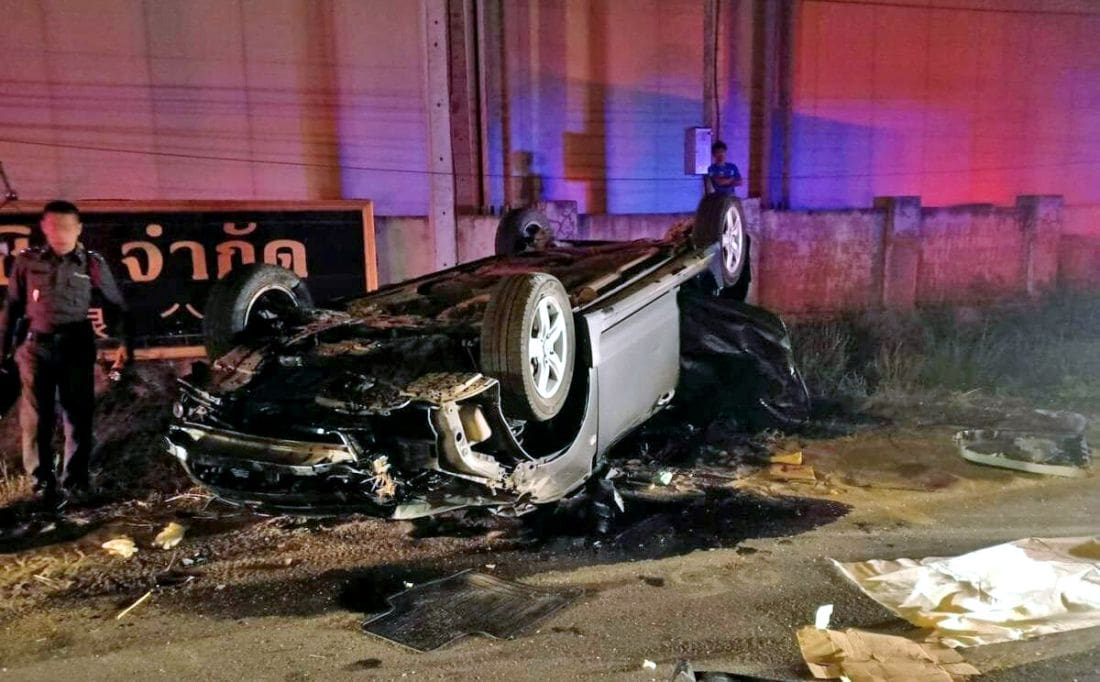 Three died, three injured in Chiang Mai road crash | The Thaiger