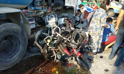 Big Bike driver dies after slamming into cement truck in Thalang   The Thaiger