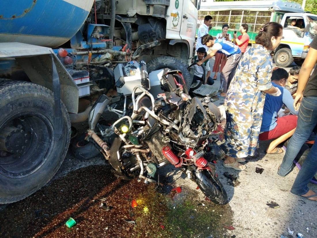 Big Bike driver dies after slamming into cement truck in Thalang | The Thaiger