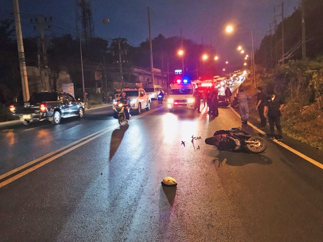 UPDATE: Water truck driver presents himself to police after motorcycle death on Kata hill | News by The Thaiger