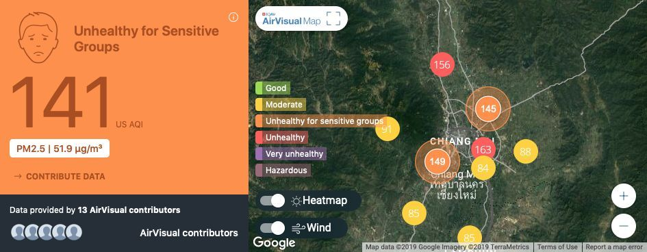 Day One of burning ban - Chiang Mai still choking on poor air quality | News by The Thaiger