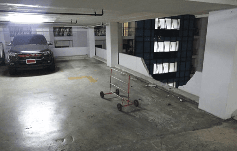 Woman survives eight floor plunge into a condo car park | News by The Thaiger