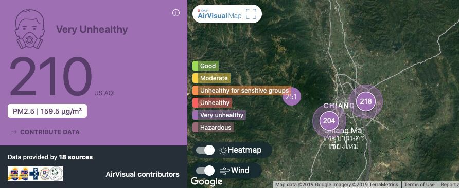 Chiang Mai, Chiang Rai, continue to suffer under persistent haze | News by The Thaiger