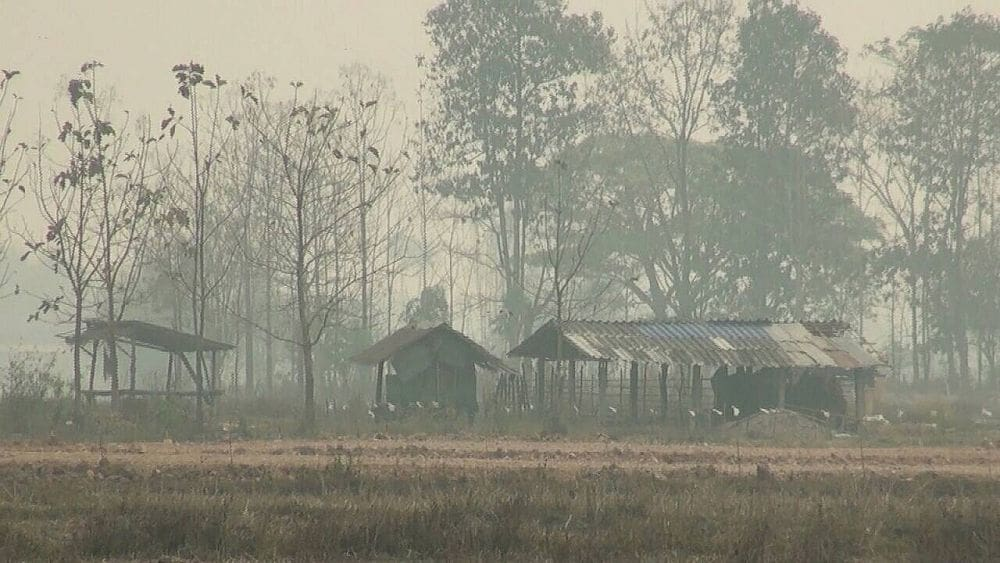 Week kicks off with more choking haze and cancelled flights in the north