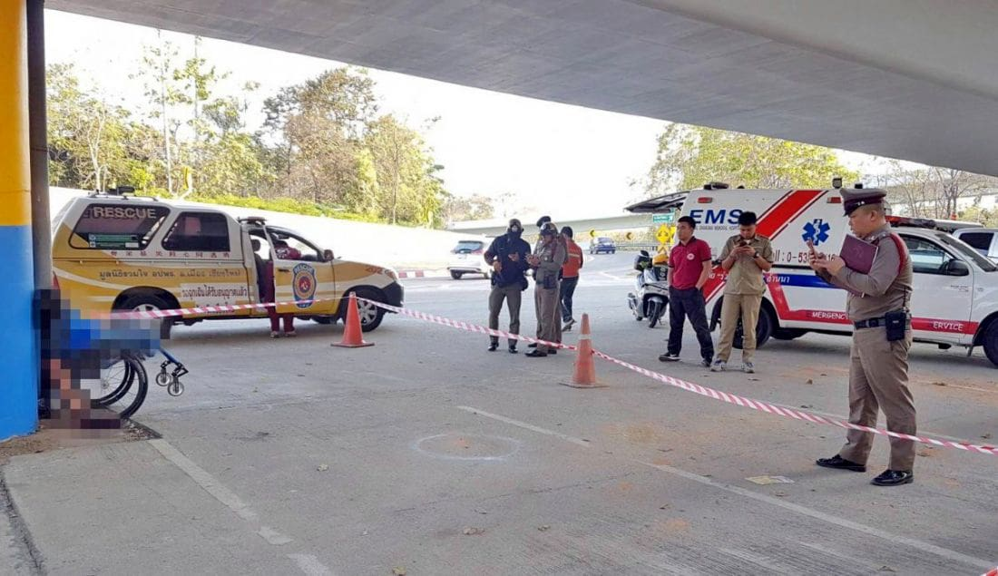 Wheelchair-bound man shot dead under a flyover in Chiang Mai | The Thaiger