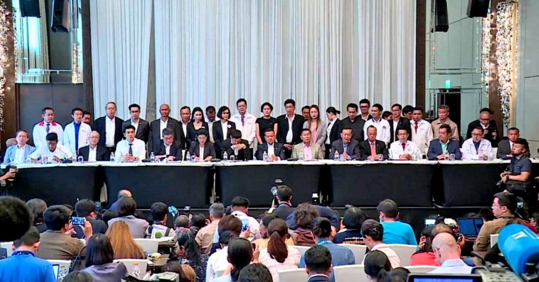 Anti-Junta bloc announces coalition with at least 255 seats | The Thaiger
