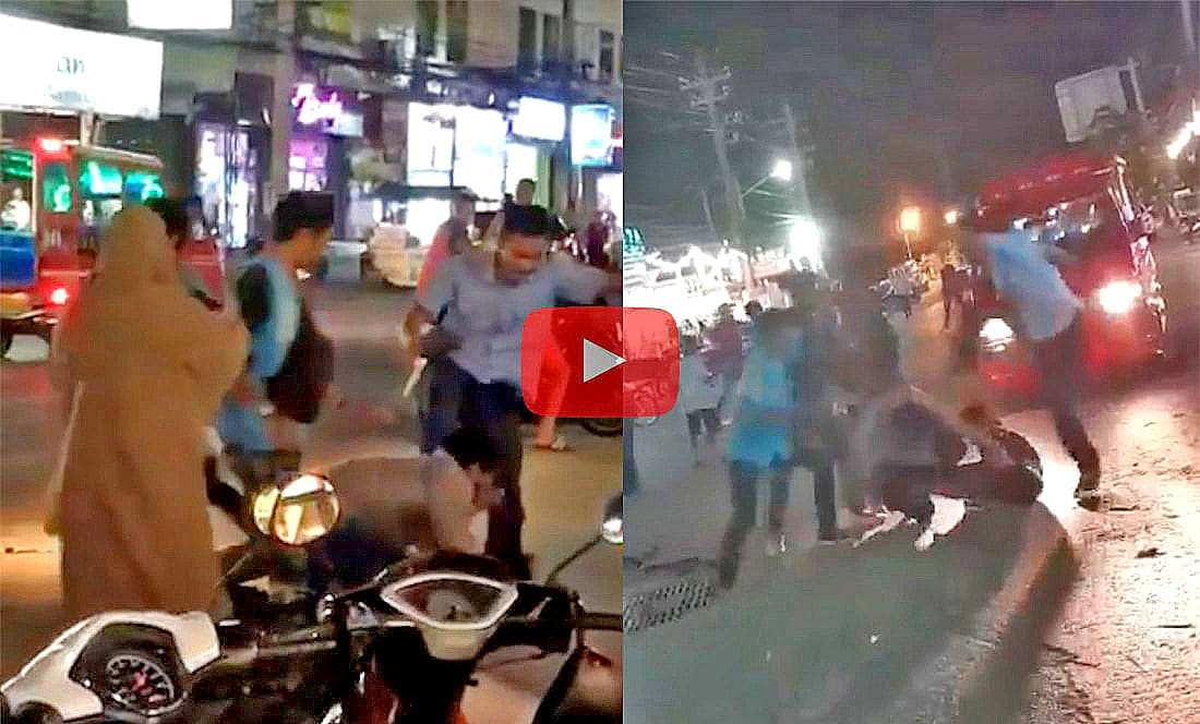 Patong Police investigate taxi drivers beating up a tourist – VIDEO | The Thaiger