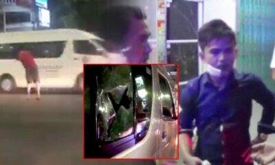 หนุ่มคลั่ง! ปาอิฐใส่รถตู้ ทำหนุ่มวิศวะคางแตก ตำรวจเร่งตามตัวหวั่นทำอีก เกรงจะบานปลาย | The Thaiger