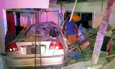 Driver slams sedan into bedroom of house killing baby and injuring others | The Thaiger
