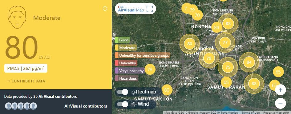 Air quality for Thailand – March 4 | News by Thaiger