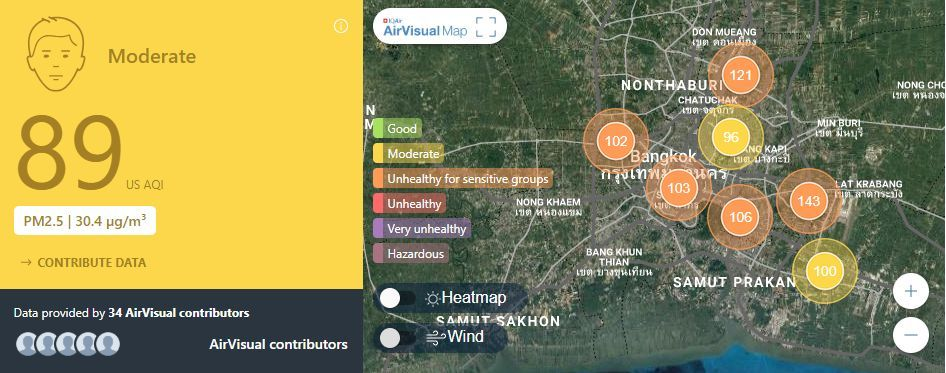 Air quality for Thailand – March 1 | News by Thaiger
