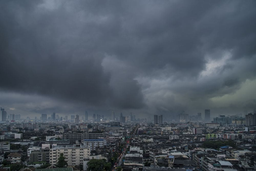 Weather Warning For Summer Storm In Upper Thailand