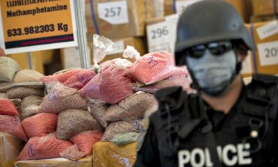 Chiang Rai motorcyclist flees police leaving behind a bag with 200,000 meth pills | The Thaiger