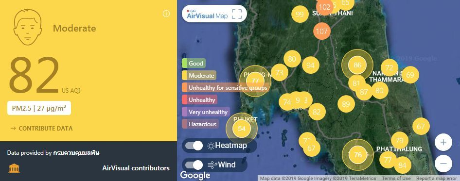 Air quality for Thailand – March 5 | News by The Thaiger
