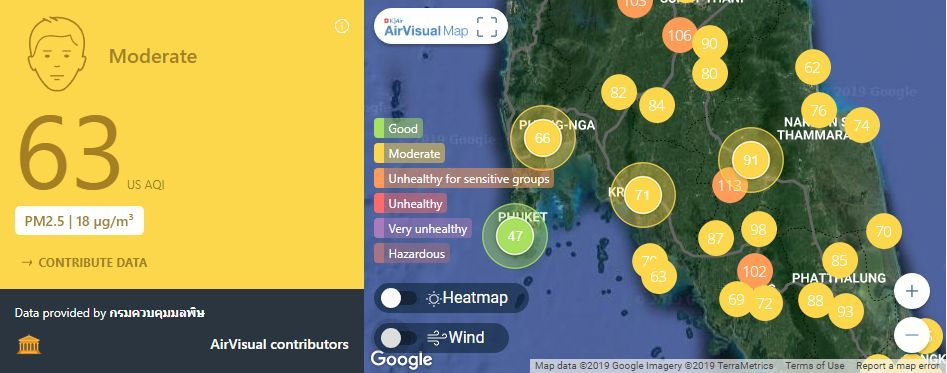 Air quality for Thailand – March 7 | News by The Thaiger