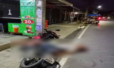 Motorcyclist dies after slamming into power pole in Wichit – VIDEO | The Thaiger