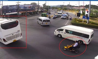 Motorbike passenger dies after being crushed by bus in Kathu – VIDEO | The Thaiger