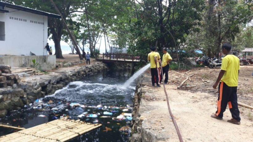 มูลนิธิชัยพัฒนา ยื่นมือช่วยแก้ไขปัญหาน้ำเสียคลองจาก อ่าวนาง ที่เรื้อรังมานาน | News by The Thaiger