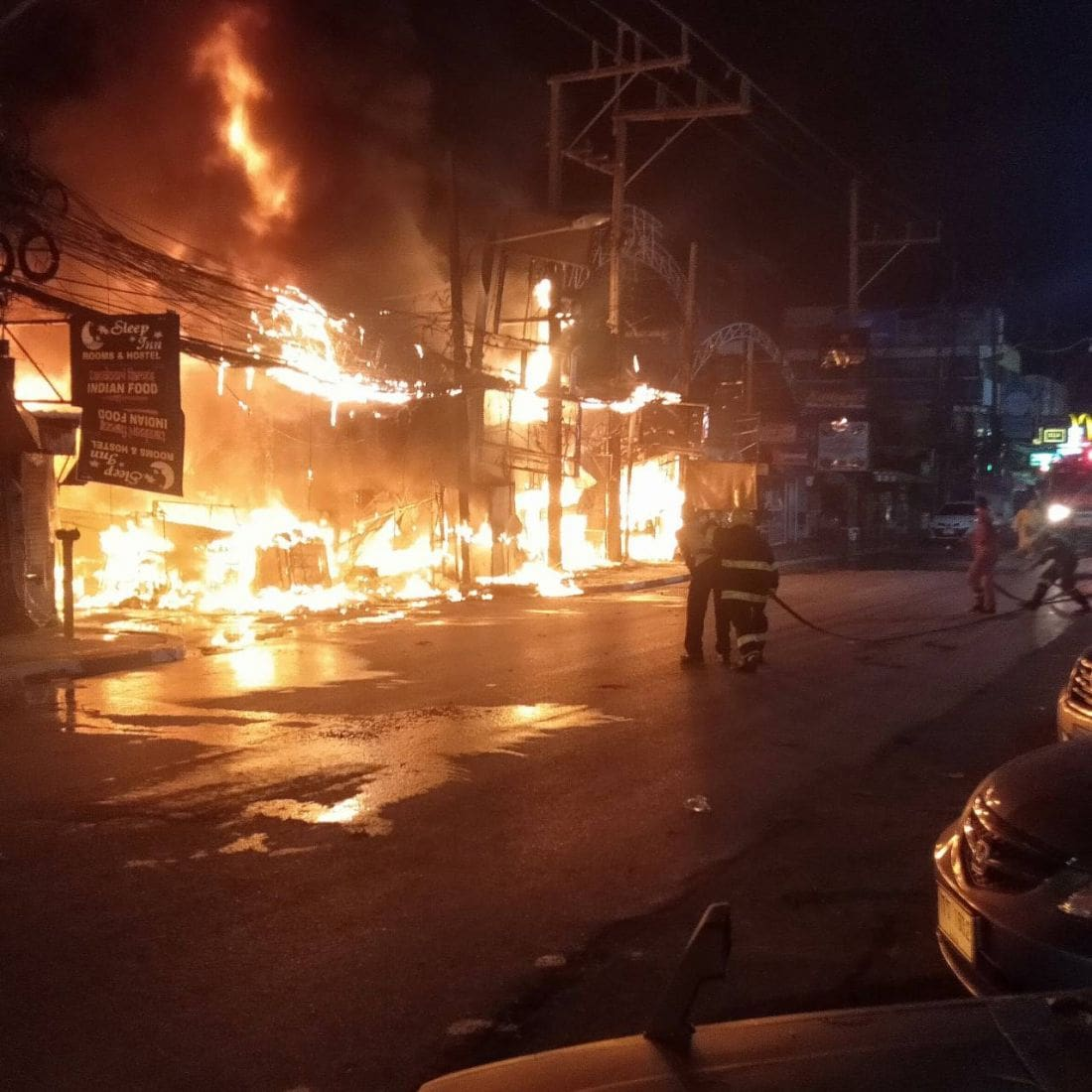 Patong transformer short-out escalates into massive shop fire – VIDEO | Thaiger