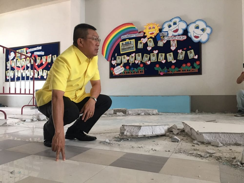 Questions arise over specs of collapsed wall at school in Khon Kaen that killed 4 year old girl | The Thaiger