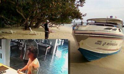 โจ๋ฝรั่งเมาปลิ้น ขโมยเรือสปีดโบ๊ทขับพังยับ เสียหายนับแสน | The Thaiger
