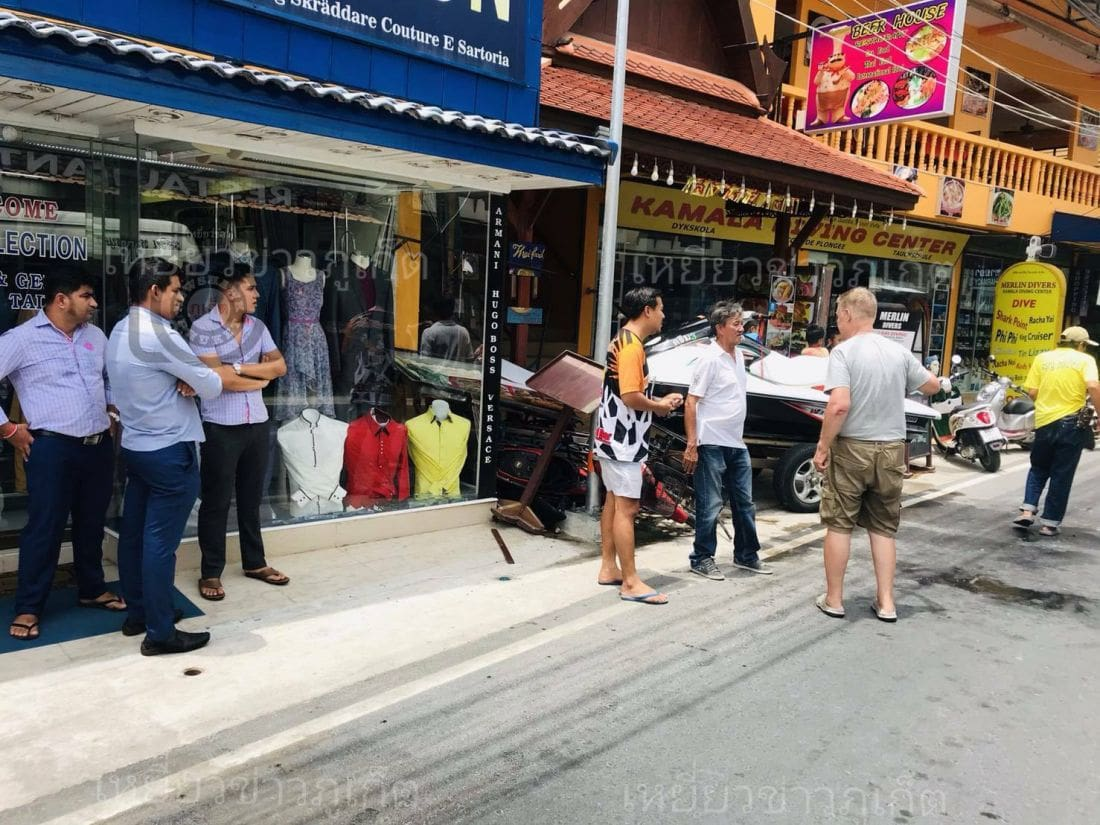 JetSki crashes into shop in Kamala, Phuket | The Thaiger