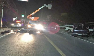 Pickup truck crashes into power pole in Wichit, causes five hour blackout   The Thaiger