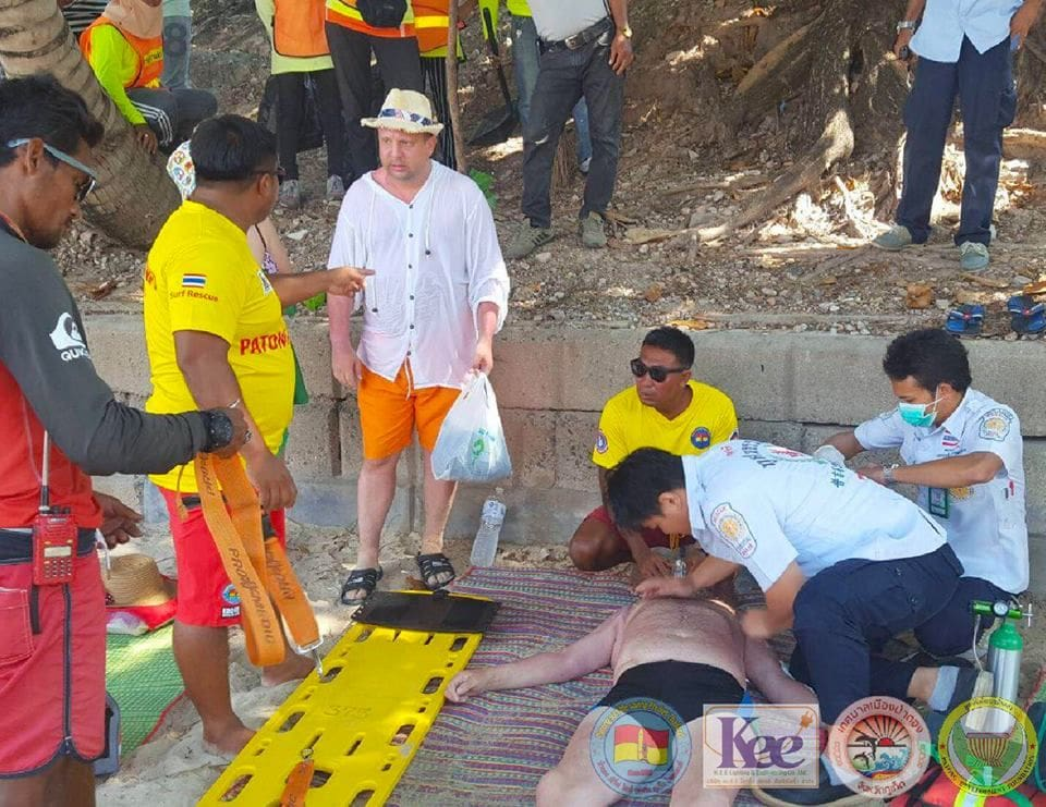 Russian tourist rescued off Patong Beach   The Thaiger