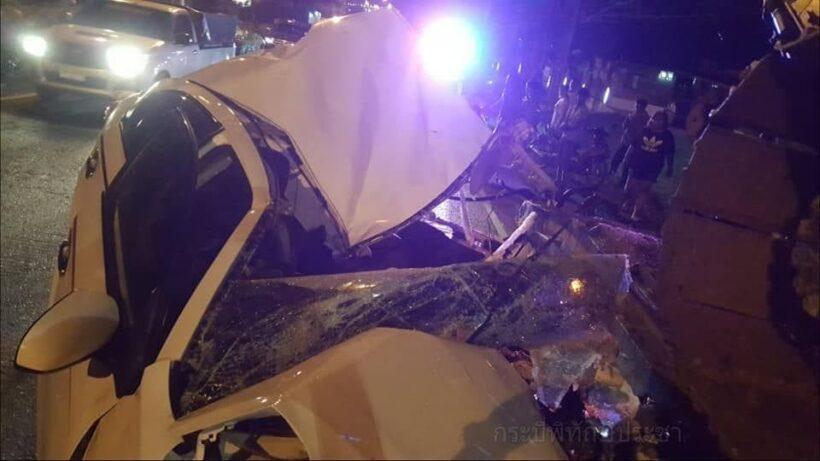 มีของดี! สาวกระบี่ควบเก๋งอัดท้ายรถบรรทุก พังยับ คนขับไม่มีสักแผล | News by The Thaiger
