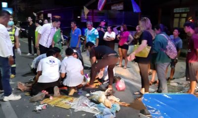Three people injured, two chickens die in Chalong crash | The Thaiger