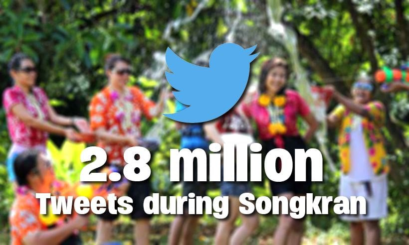 Twitter shares the Songkran experience – 2.8 million tweets | The Thaiger